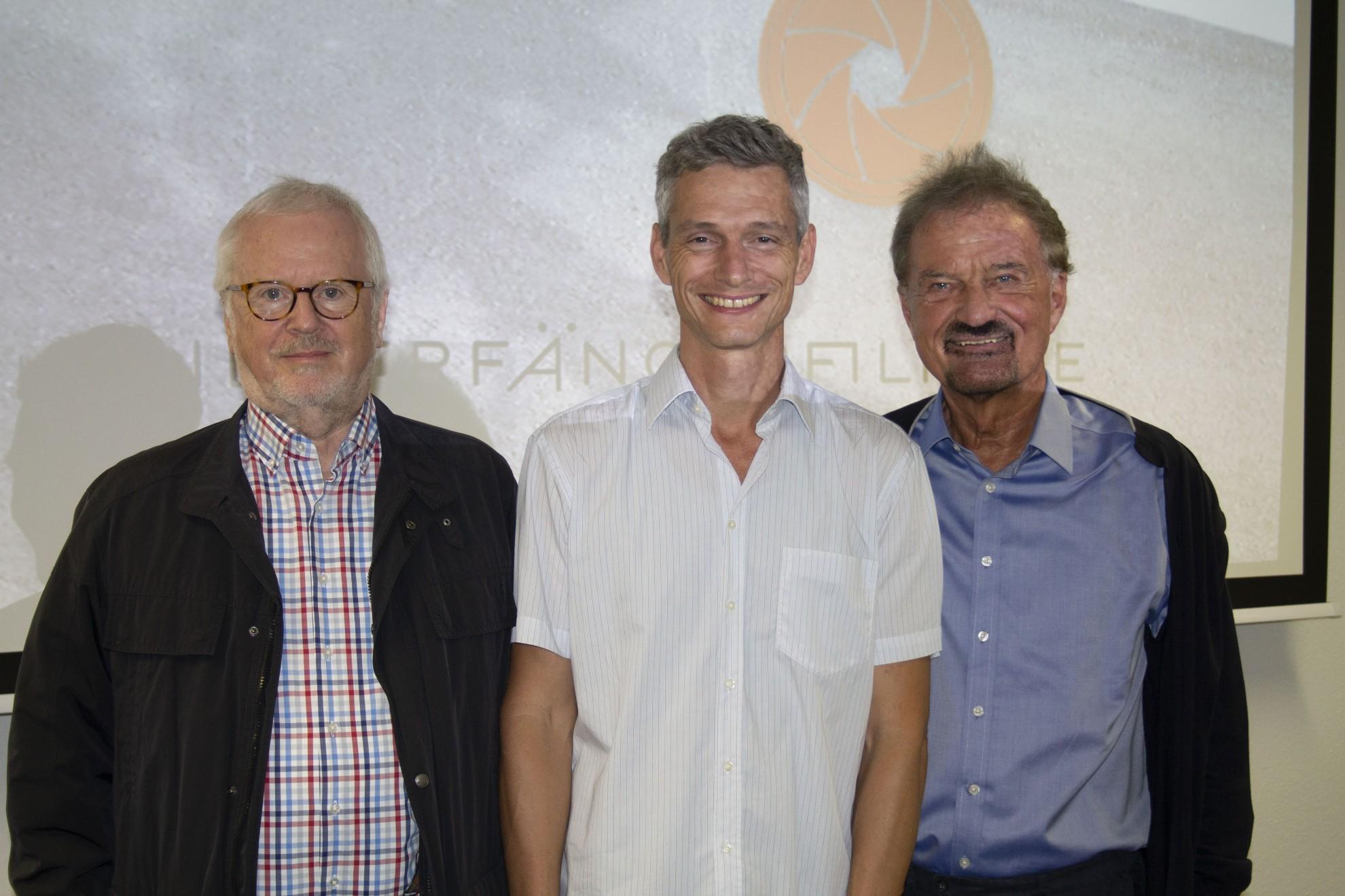 Foto: v.l. Hans-Werner Reichenbach, Tobias Kriele, Karl Finke
