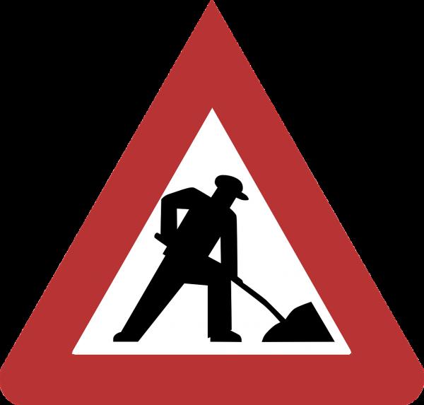 Warnzeichen: Baustelle